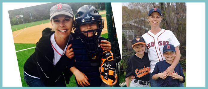 Wendy coaching her son's baseball team