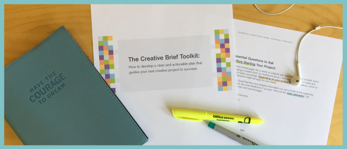 Finishing Touches on the Creative Brief Toolkit